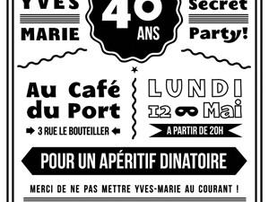 Secret Party flyer